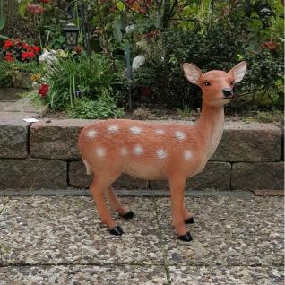 Dekofigur Bambi Reh Rehkitz Garten Figur Tierfigur Skulptur lebensecht #2173