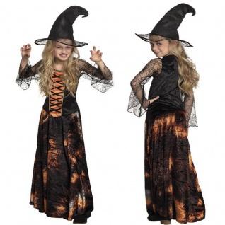 Schicke elegante Hexe Magierin - komplettes Hexen Kostüm für Kinder Halloween