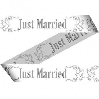 15 Mtr. Absperrband JUST MARRIED Hochzeit Deko Party girlande