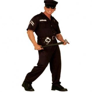 3-tlg. POLIZIST Polizei Uniform mit Hut Herren Kostüm Größen M, L, XL