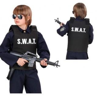 Swat Weste Kinder Kostüm Undercover Polizei Sondereinsatz Komando Jungen Kostüm