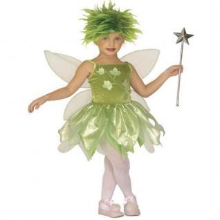 WALDFEE Mädchen Kostüm Gr. 110 Fee Waldelfe Elfe (4395)