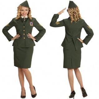 OFFIZIERIN Damen Kostüm Militär Uniform Soldatin - Karneval Fasching S, M, L, XL