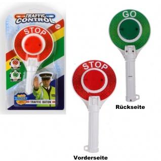 Kinder Polizei Kelle mit Licht Spielzeug rot grün Signal Stoppschild #8070