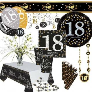 Geburtstag-Dekoration mit runder Zahl 18-Party Tisch-Deko AUSWAHL18