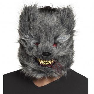 gruselige creepy WERWOLF Maske blutrünstige Tiermaske Halloween Kostüm #2215