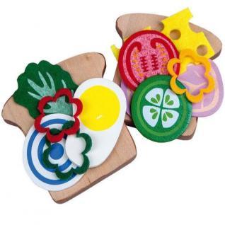 HOLZ SANDWICH Kinder Spielzeug Lebensmittel für Kaufladen Kinderküche 45032