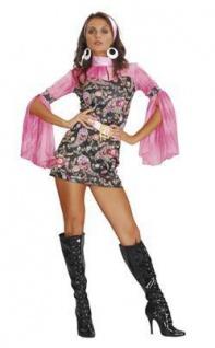 Hippie Kleid Damen Kostüm in M 38 / 40 sexy Hippie Go Go Girl Discoqueen 70er