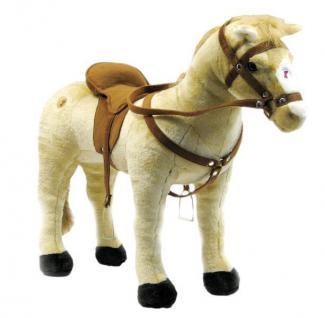 Reitpferd mit 3-fach Sound Plüschpferd Happy People Kinder Pferd 58410