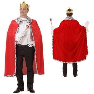 UMHANG KÖNIG 1tlg. MIT KRONE, Mantel Königskostüm Robe Kostüm Märchen
