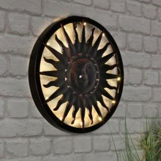 Solar Wandlicht Sonne LED Wandleuchte Solar-Leuchte Wandbild Deko Lampe #0030