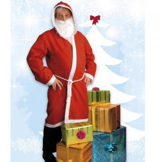 Nikolaus Weihnachtsmann Kostüm-Set - Mantel Gürtel Bart - AKTION