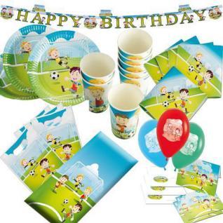 Fußball Party HAPPY KICKER Geburtstag Kindergeburtstag Teller Becher Servietten