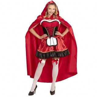Rotkäppchen Kostüm S (34/36) Sexy Damen Verkleidung Märchen Halloween Karneval