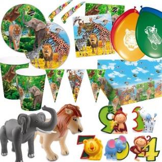 Safari Zoo Jungel Party Set Riesenauswahl Kindergeburtstag -dschungel Geburtstag - Vorschau 1