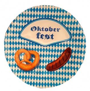 40 Party Teller BAYERN RAUTE blau weiß mit Motiv Oktoberfest Tisch Deko #1485