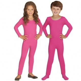 Einteiler Kinder Body Overall Jumpsuit lang Sport pink Langarm Kostüm 116-152