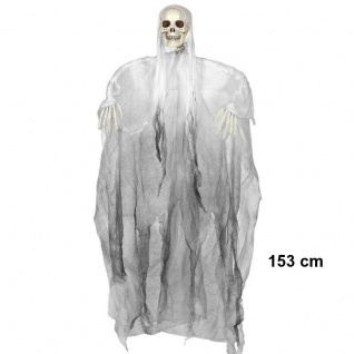 Sensenmann Deko Figur schwarz Hängefigur 153cm Halloween Tod Skelett Geist 3238