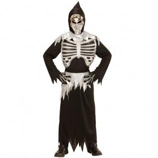 GRIM REAPER 140 Kinder Kostüm 8-10 Jahre Sensenmann TOD Skelett Halloween 3997