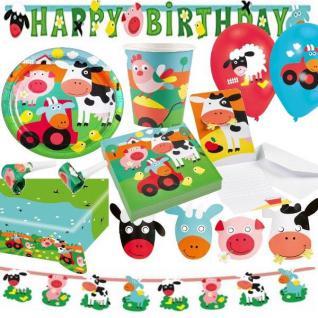 BAUERNHOF TIERE - TOP AUSWAHL Kindergeburtstag - Geburtstag Party Deko Kinder
