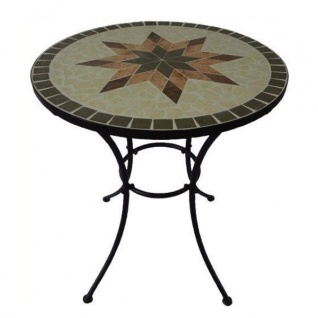 Siena Garden STELLA Tisch Eisen /Mosaikplatte rund 70 cm Bistro Gartenmöbel