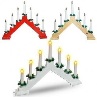 LICHTERBOGEN Adventsbogen Holz Schwedenleuchter Schwibbogen Weihnachts-Pyramide