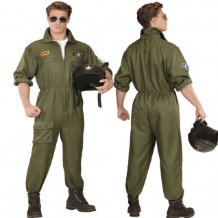 Kampfpilot Jet Pilot Kampfflieger Herren Kostüm - TOP GUN Karneval Fasching