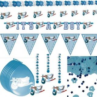 Deko-Paket 15-tlg. Set Geburt Taufe Junge Baby Party Freudiges Ereignis Baby -2-