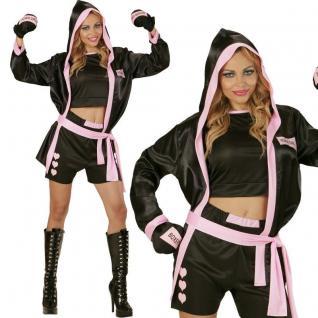 Sexy Boxer Girl Boxerin Gr. M 38/40 - Damen Kostüm Karneval Fasching #7396