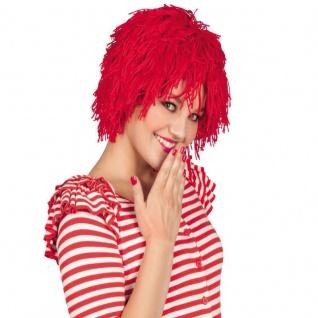 Perücke Fuzz rot Tünnes Clown Karneval Fasching Kostüm Zubehör #6204