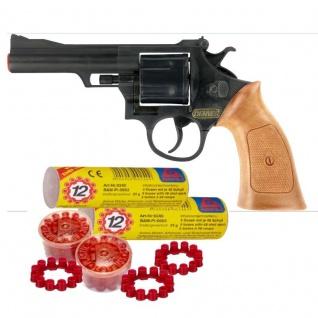 DENVER REVOLVER Kinder Spielzeug Pistole Waffe Karneval mit 480 Schuß Munition