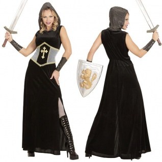 DAMEN KOSTÜM KRIEGERIN Mittelalter Kleid Jeanne d' Arc Kämpferin XS, S, M, L, XL
