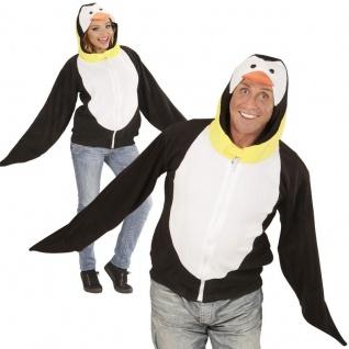 PINGUIN JACKE PLÜSCH Tier Kostüm Unisex Damen/Herren - Karneval Fasching