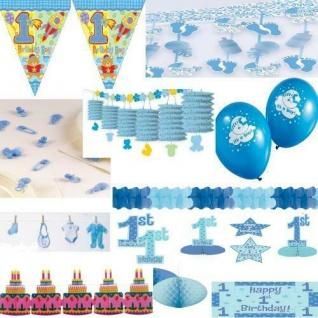 GEBURT JUNGE DEKO Baby Shower Party Deko blau hellblau Feier Geburtstag