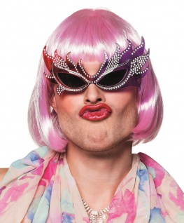 Drag Queen Brille flippiges Accessoir für Karneval, Fasching, Motto-Partys #2605