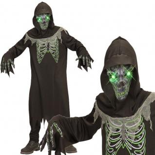 Sensenmann Dämon Tod mit leuchtenden Augen Gr. 164 Kinder Kostüm Halloween #7899