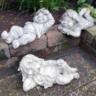 Figur Wichtel Gnom Troll Kobold liegend ca.42-48cm Zwerg Garten Deko Figur