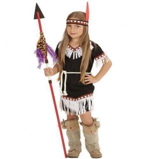 Indianerin Squaw Mädchen Kostüm 3tlg. 104 2-3 Jahre Indianer Kinder Kostüm 6693