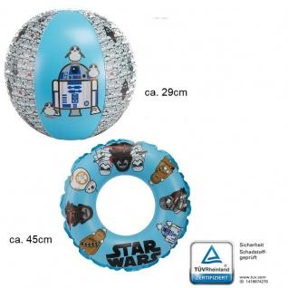 Schwimmring ca 45cm + Wasserball ca 29cm - 2tlg. Strandset - Star Wars -