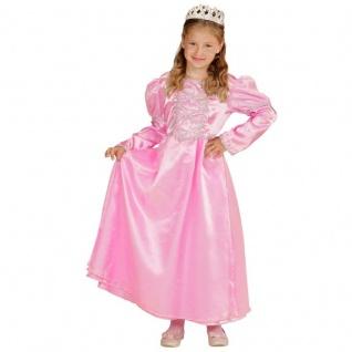 Mädchen Kostüm MÄRCHEN PRINZESSIN Gr. 128 Kleid mit Krone Rosa/Pink Kinder #0391