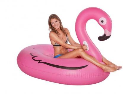 XXL Badeinsel FLAMINGO Floater Schwimmtier Luftmatratze Wasserspielzeug #77660