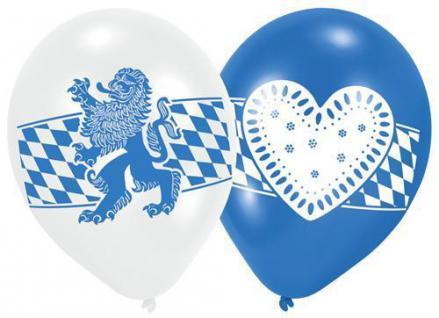 """6 Luftballone Oktoberfest Bayern Party """" bayrische Raute mit Löwe"""