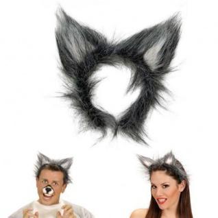 Wolfsohren Auf Haarreif Wolf Ohren Fasching Kostum Wolfkostum