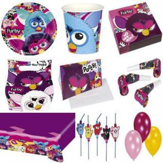 Furby Kindergeburtstag PARTY DEKO Geburtags Set Tischdeko Teller Becher