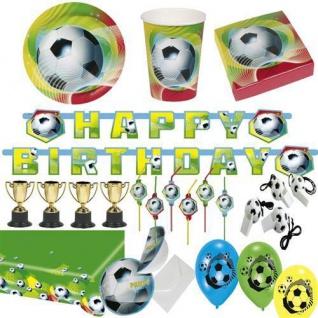 Fussball Party Deko U Geschirr Fussballparty Kindergeburtstag Mottoparty 4