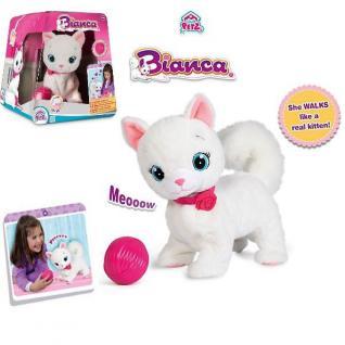 IMC Toys Bianca Katze Plüsch Kätzchen mit Funktion - Funktionsplüsch NEU