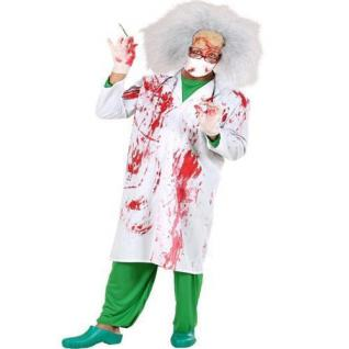 Blutiger DOKTOR KITTEL 48 (S) Arzt Kittel Herren Halloween Fasching Kostüm
