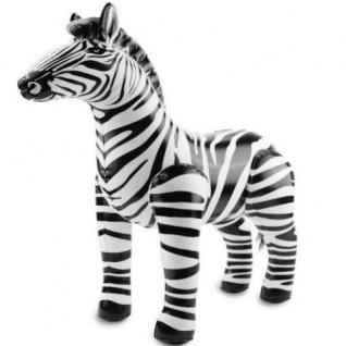 Aufblasbarer ZEBRA Aufblastier Dschungel 60x55 cm Safari Kinder Party