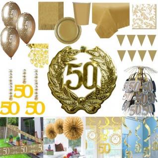 Party Deko Gold Hochzeit 50 Jahre Jubiläum goldene Hochzeit RIESEN AUSWAHL - Vorschau 1