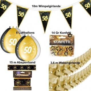 12 tlg. Party Deko Set Gold 50. Geburtstag Hochzeit 50 Jahre Jubiläum (Set 2)